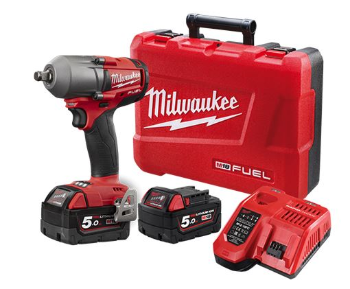 Milwaukee M18 FUEL 3/4 HIGH TORQUE IMPACT WRENCH W/ FRICTION RING & ONE-KEY- 5AH KIT