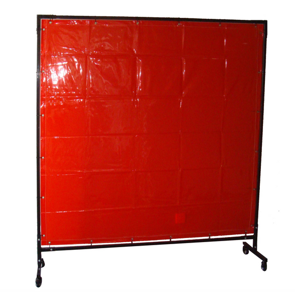 unimig RED WELDING CURTAIN & FRAME