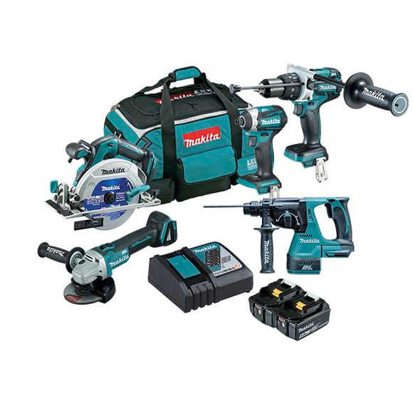 Makita DLX5027T Mobile 5 Piece Brushless Combo