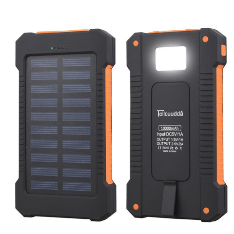 Solar Waterproof 10000mAh Power Bank
