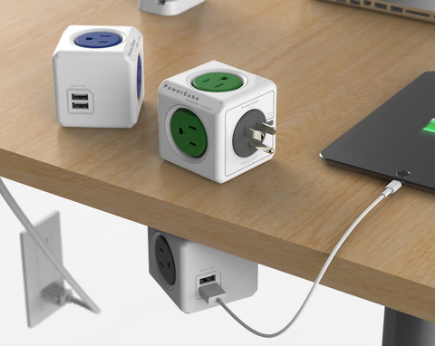 Allocacoc PowerCube Extended + Switch - UK Plug
