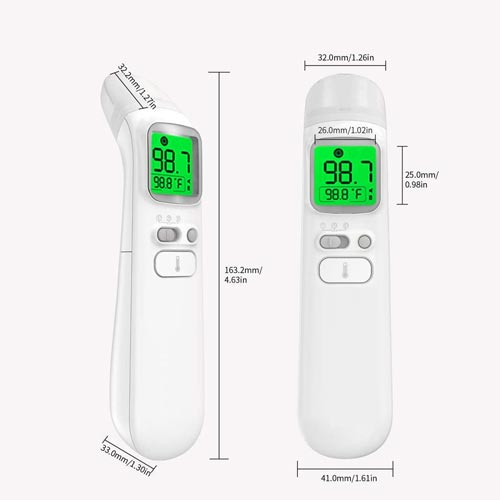 Podwkn Forehead and Ear Thermometer