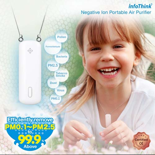 InfoThink iAnion-100 Portable Necklace Negative Ion Air Purifier