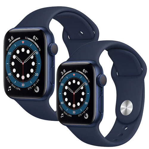Apple Watch Series 6, Blue Aluminium Case with Deep Navy Sport Band - Regular - GPS