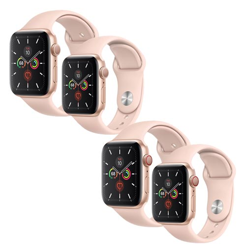 Apple Watch Series 5, Gold Aluminium Case with Pink Sand Sport Band
