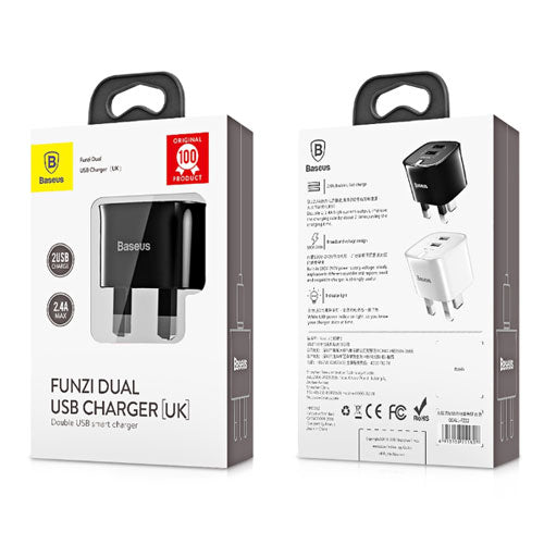 Baseus Funzi Dual USB Charger (UK) 2.4A