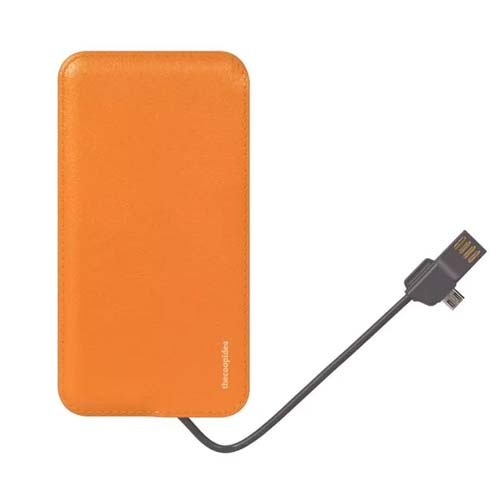 Thecoopidea Slim 4000 + Apple MFI Connector 2.1A Powerbank 4000mAh