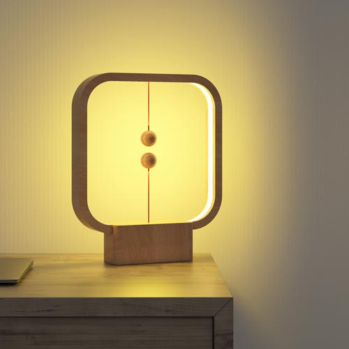 Allocacoc Heng Balance Lamp Square Wood 4