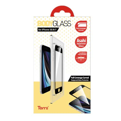 Torrii BODYGLASS for iPhone SE (2020) (Full Coverage Curved)