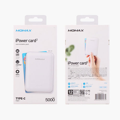 Momax iPower Card 2 External Battery Pack 5000mAH