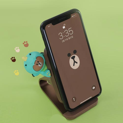 LINE FRIENDS 10W/7.5W Fast Wireless Charging Stand