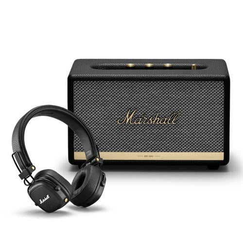 Marshall ACTON II Bluetooth Speaker + MAJOR III Bluetooth Headphones Bundle Set