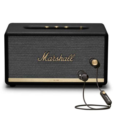 Marshall STANMORE II Voice EU with GOOGLE + MINOR II Bluetooth Headphones Bundle Set