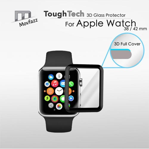 Movfazz ToughTech 3D Curved Full Screen Glass Protector for Apple Watch