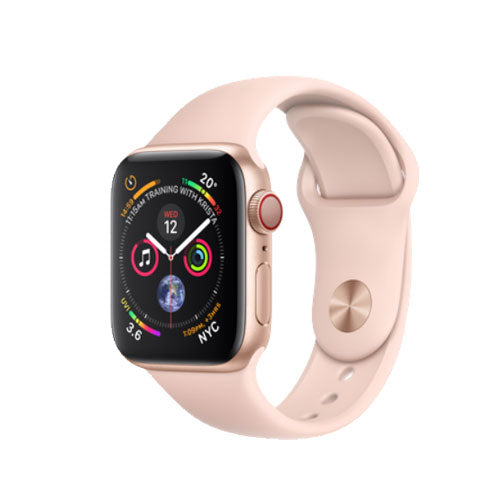 Apple Watch Series 4, Gold Aluminium Case with Pink Sand Sport Band - GPS + Cellular