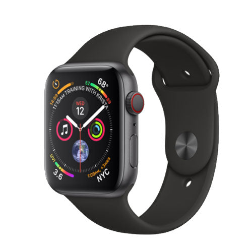 Apple Watch Series 4, Space Gray Aluminium Case with Black Sport Band - GPS + Cellular