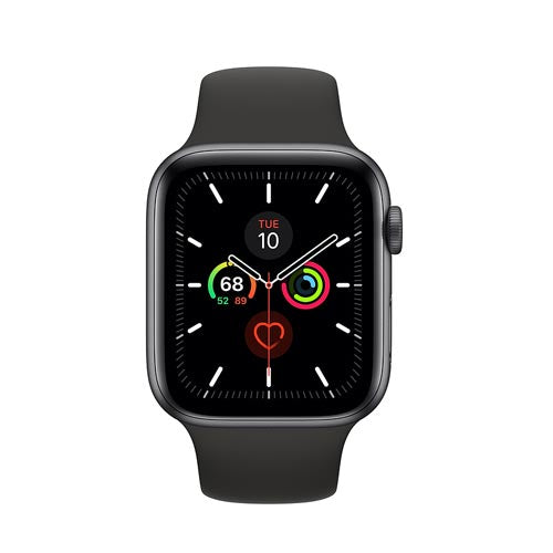 Apple Watch Series 5, Space Gray Aluminium Case with Black Sport Band