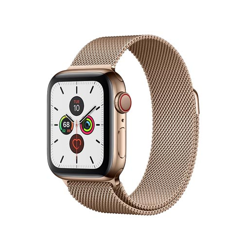 Apple Watch Series 5, Gold Stainless Steel Case with Gold Milanese Loop