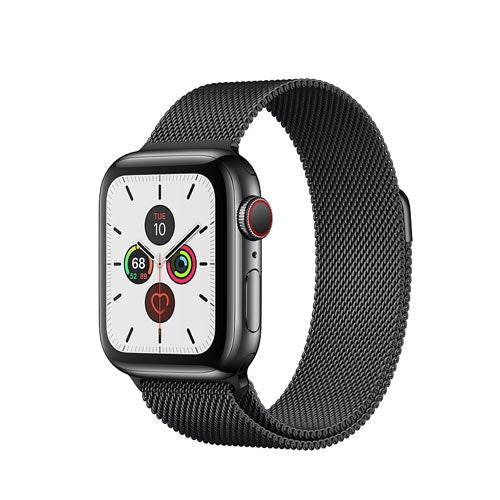 Apple Watch Series 5, Space Black Stainless Steel Case with Milanese Loop