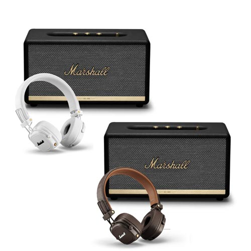 Marshall STANMORE II Voice EU with GOOGLE + MAJOR III Bluetooth Headphones Bundle Set