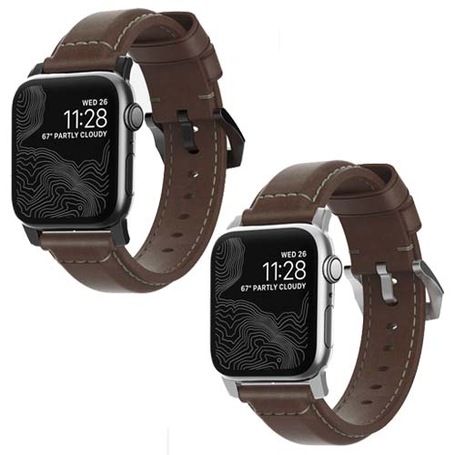 Nomad Horween Traditional Leather Strap for Apple Watch