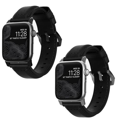 Nomad Black Classic Strap for 42mm/44mm Apple Watch
