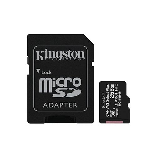 Kingston Canvas Select Plus microSD 4K UHS-I Class 10 Memory Card - 256GB