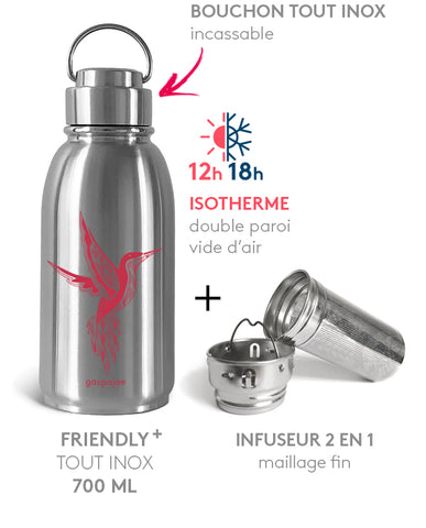 PACK BOUTEILLE FRIENDLY+ ISOTHERME 700ml