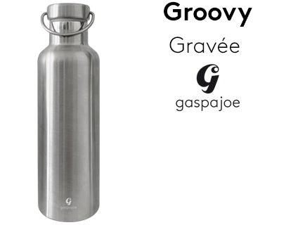 GROOVY 700ml, Gourde isotherme au bouchon tout inox