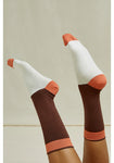 Chaussettes en lot de 3 imprimées - Brown Patterned