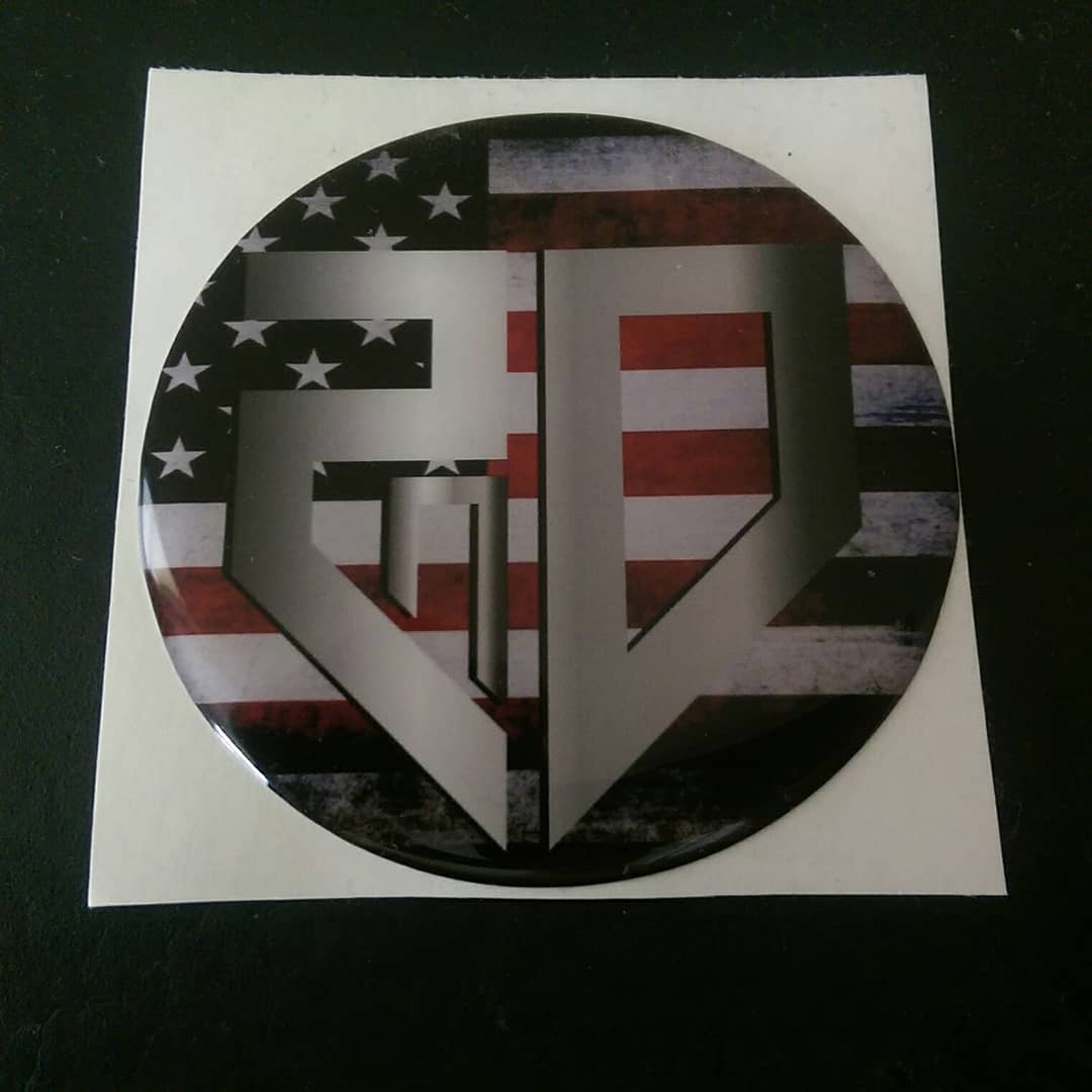 3D 2nd American Flag Doming Sticker