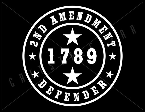 2nd Amendment Defender Vinyl Decal | Grit Style Gear