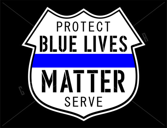 Blue Lives Matter Vinyl Decal | Grit Style Gear