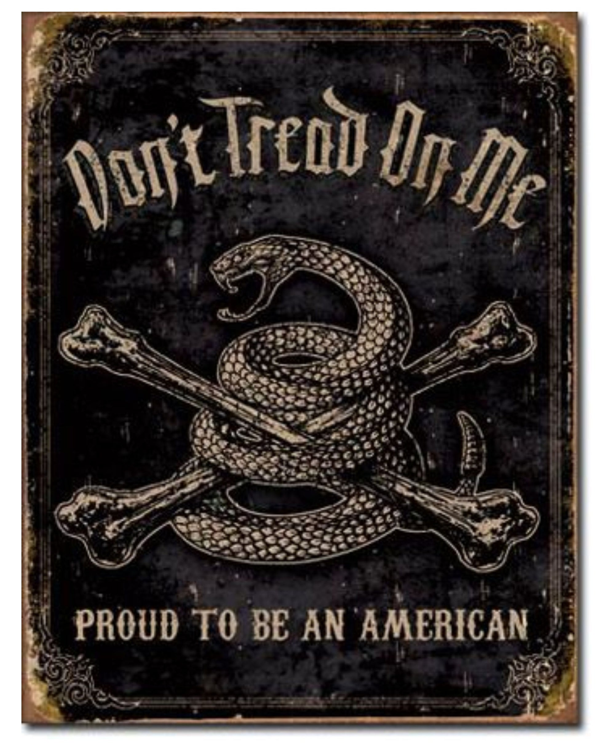 DTOM Proud American Tin Sign | Grit Gear Apparel®