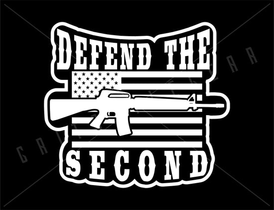 Defend the Second Amendment Vinyl Decal | Grit Style Gear