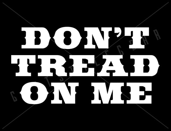 Don't Tread On Me - 2nd Amendment Vinyl Decal | Grit Style Gear