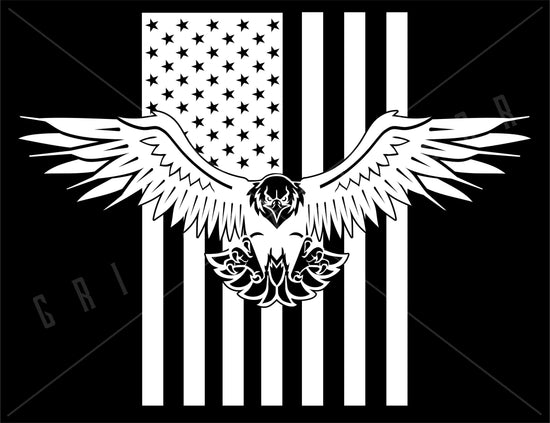 Bald Eagle American Flag Vinyl Decal | Grit Style Gear