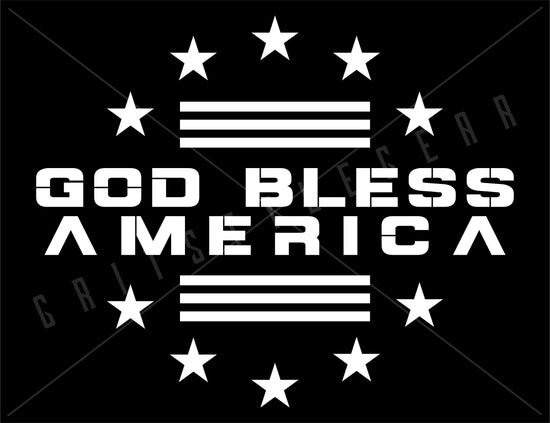 God Bless America Vinyl Decal | Grit Style Gear®
