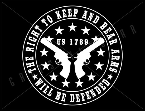 Right To Bear Arms Defender Vinyl Decal 2nd Amendment | Grit Style Gear