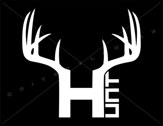 Buck Antlers Hunt Vinyl Decal | Grit Style Gear