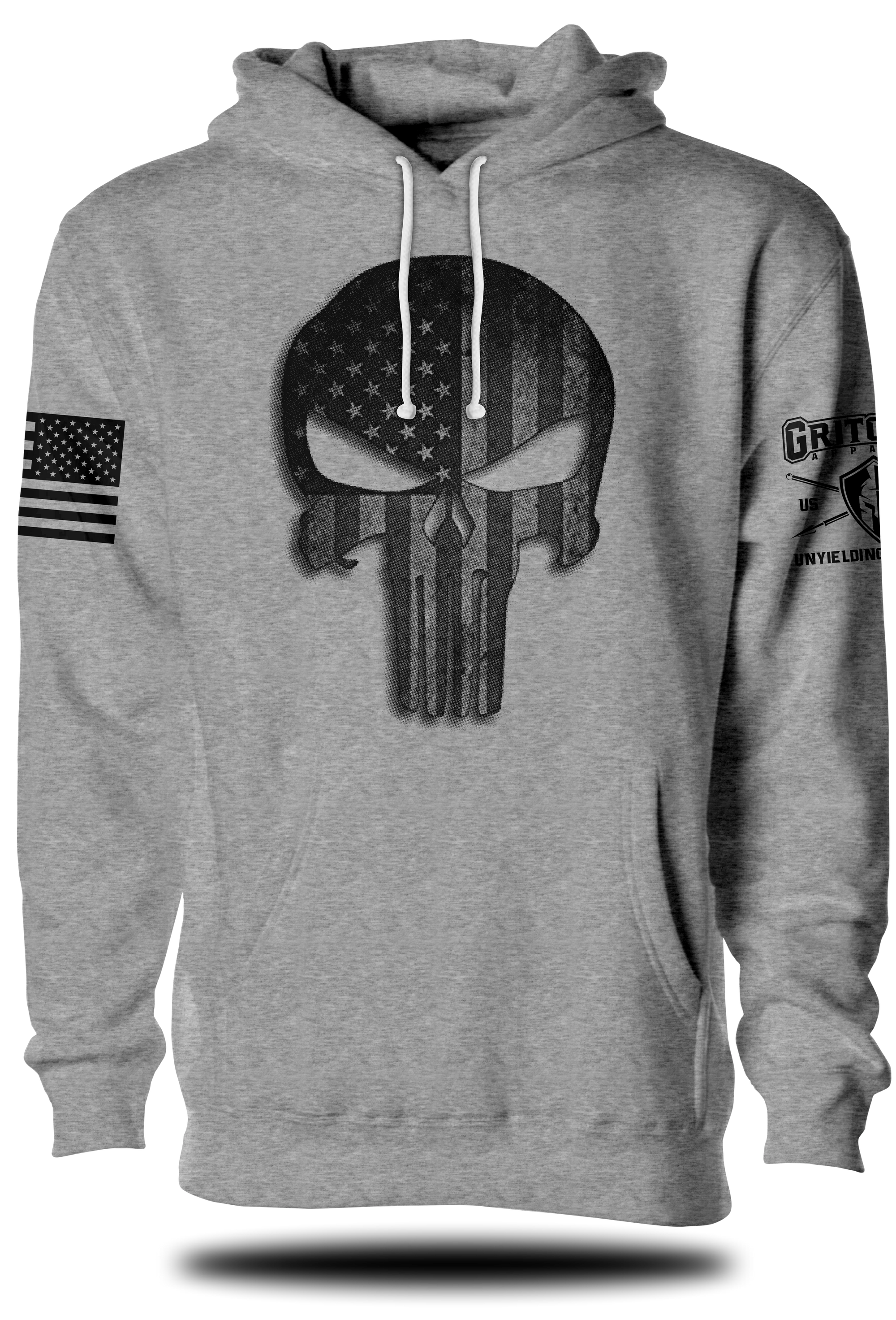 Punisher Stars and Stripes Hoodie | Grit Gear Apparel®