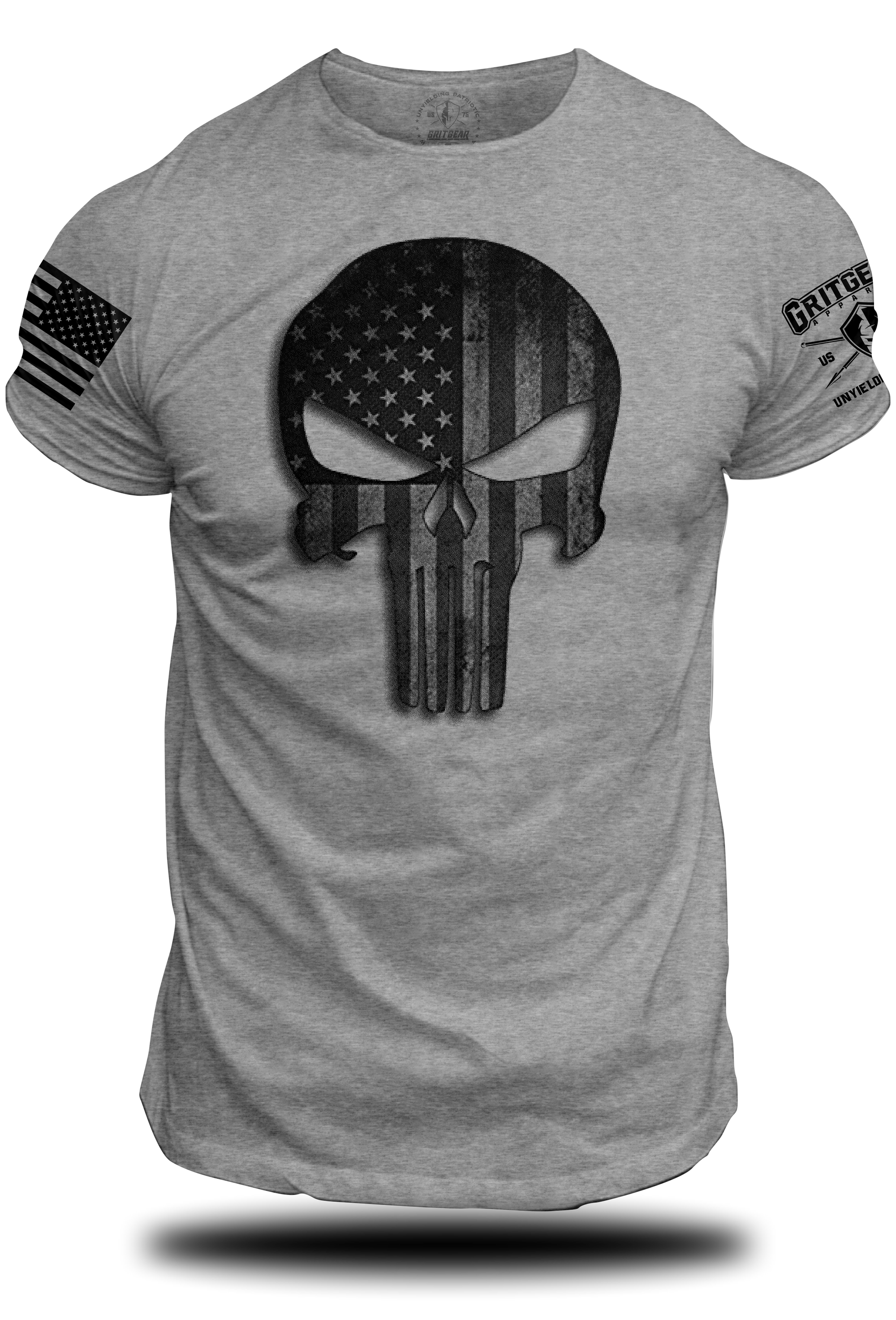 Punisher Stars and Stripes Tee | Grit Gear Apparel