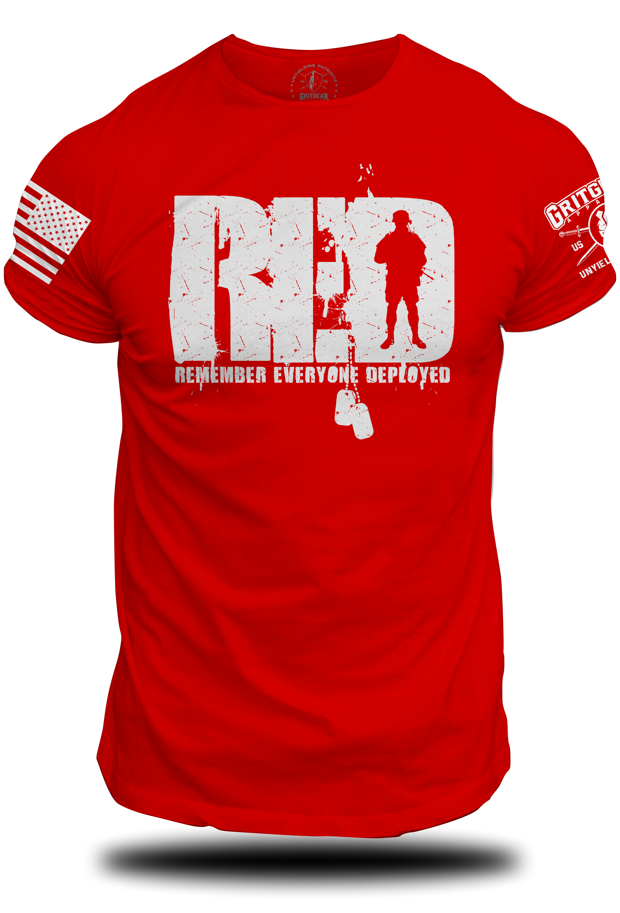 RED Standing Soldier Tee | Grit Gear Apparel