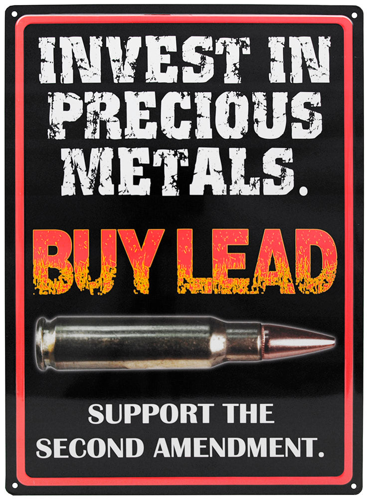 Invest in Precious Metals Tin Sign | Grit Style Gear