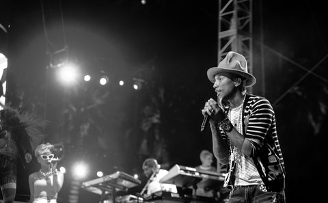 Pharrell Williams performing at the 2014 Coachella Valley Music and Arts Festival. Photo Credit:  Flickr User THE BULL PEN