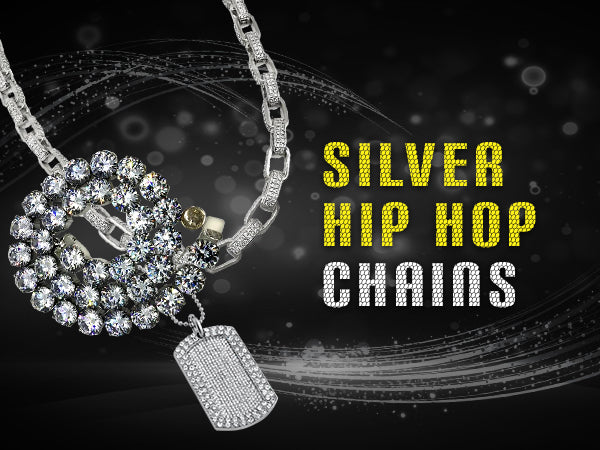 Silver Hip Hop Chains