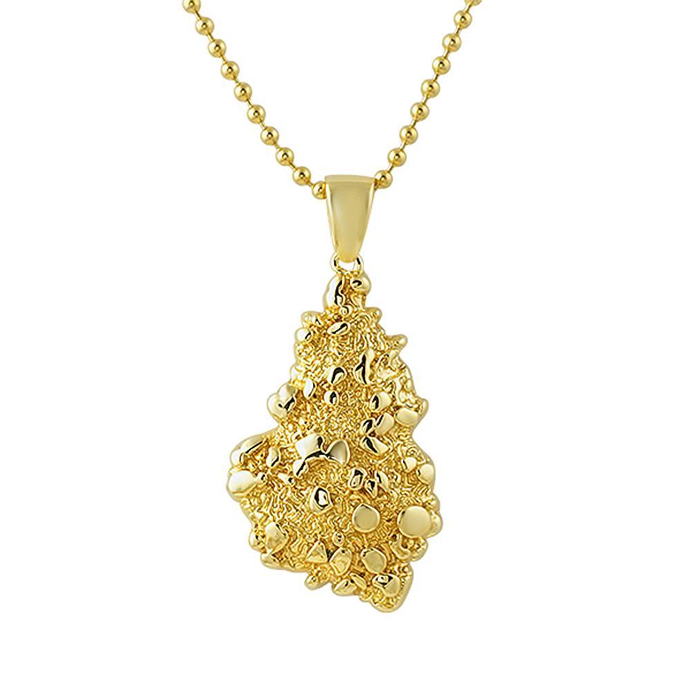 38cc76794a5df Gold Nugget Detailed Pendant -