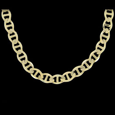 Marine 6mm 20 Inch Gold Plated Hip Hop Chain Necklace