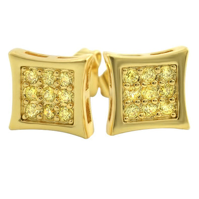 Kite Small Lemonade CZ Micro Pave Earrings