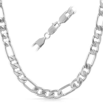 5313b2774d947 Figaro Stainless Steel Chain Necklace 8MM -